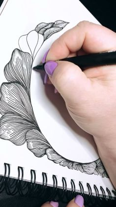 Zentangle Art Ideas, Zentangle Drawings, Zentangle Patterns, Zentangles, Doodle Art Drawing, Mandala Drawing, Pencil Art Drawings, Cool Art Drawings, Zen Doodle Patterns