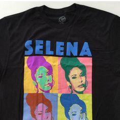 6ee058495 Selena Quintanilla Black Large Shirt (New) Warhol Pop Art Style #Selena  #GraphicTee