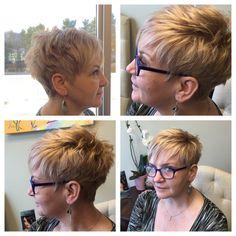Short hair. Raisor cut Mom Haircuts, Hairstyles Over 50, Short Haircuts, Hairstyles Haircuts, Short Hair Cuts For Women, Short Hair Styles, Pixie Styles, Short Cuts, Short Hair Back View