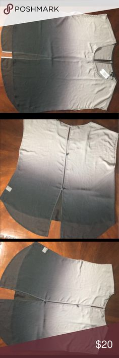 Ombré Dolman Top Plus size (See-through) Dolman top. Grey on top to a purplish black ombré on bottom.  There is also a button back. torrid Tops Blouses