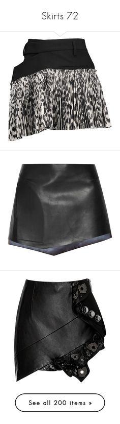 """Skirts 72"" by katiemarilexa ❤ liked on Polyvore featuring skirts, mini skirts, black, short pleated skirt, wrap skirt, wrap mini skirt, mini skirt, asymmetrical short skirt, bottoms and saias"