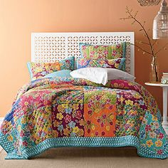 Bouquet Quilt and Sham! so pretty! I wish i could afford it!
