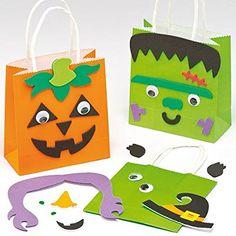 Geschenktüten Bastelsets Halloween für Kinder zum Basteln und Verzieren (4 Stück): Amazon.de: Spielzeug