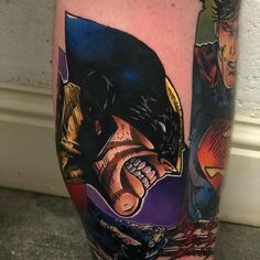 Tattoo artist Andy Walker authors color new school tattoo | England