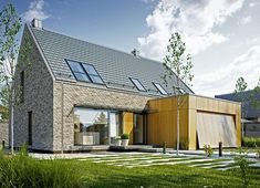 Projekt domu Atrakcyjny 1 157,10 m² - koszt budowy - EXTRADOM Style At Home, House Designs Ireland, Küchen Design, Home Fashion, Exterior Design, Floor Plans, Cabin, Flooring, Mansions