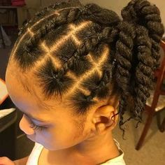 Natural Hairstyles For Kids, Kids Braided Hairstyles, Beautiful Hairstyles, Little Girl Braids, Girls Braids, Curly Hair Styles, Natural Hair Styles, Baby Girl Hairstyles, Toddler Hairstyles