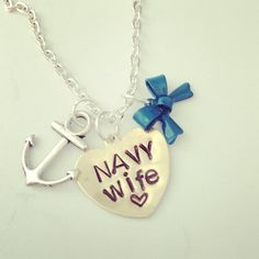 Navy wife necklace  on Etsy, $26.00