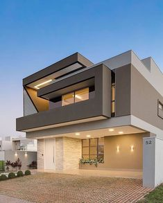 139 new modern exterior design ideas for your house page 10 Minimalist House Design, Minimalist Home, Modern House Design, Modern House Facades, Minimalist Drawing, Contemporary House Plans, Modern House Plans, Contemporary Design, Facade Design