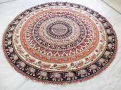 Bohemian Mandala Round Beach Tapestry Hippie Throw Yoga Mat Towel Indian Round…