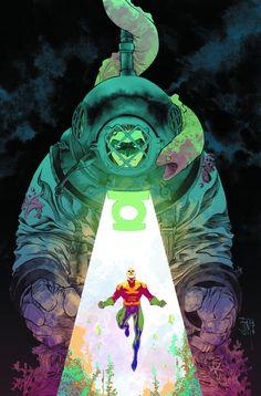Aquaman #44 - Green Lantern variant cover by Francis Manapul *