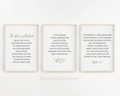 Printable Bible Verses, Printable Quotes, Printable Wall Art, Lord Is My Shepherd, Or Mat, Bible Verse Wall Art, Christian Wall Art, Office Wall Art, Day Of My Life