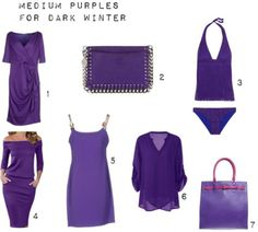 Medium Purples for Dark Winter