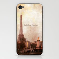 We'll Always Have Paris iPhone & iPod Skin by Laura George - $15.00