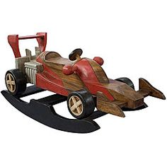 Shop for Handmade Kid's Race Car Rocking Horse (Thailand). Get free delivery On EVERYTHING* Overstock - Your Online Toys & Hobbies Shop! Crafty Projects, Diy Wood Projects, Woodworking Projects, Rocking Horse Plans, Rocking Horses, Race Car Party, Wood Toys, Kids Playing, Kids Toys