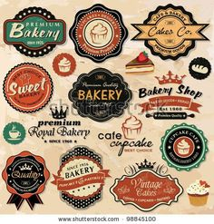 produce labels | ... » Collection of vintage retro grunge food labels, badges and icons