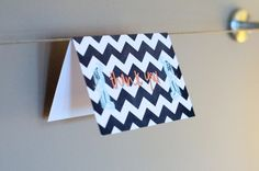 Folded Printed Thank You Cards - Personalized Greeting Cards - Choose your colors - (Set of 5). $7.00, via Etsy.