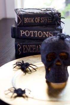 I love these books as Halloween decor.