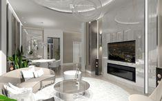 Elegáns, modern otthon, luxus kőburkolatokkal és lámpákkal. Tervező: Erdélyi Krisztina - belsőépítészet és lakberendezés Tv, Modern, Elegant, Luxury, Trendy Tree, Television Set, Television