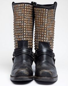motorcycle vintage leather boots