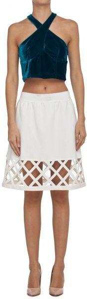 spódnica z plecionką biała