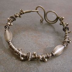 sterling silver wrapped bracelet