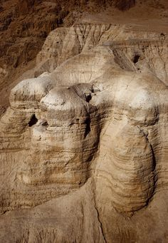 In 1947 a Bedouin shepherd unearthed the first of nearly 900 texts that would come to be known as the Dead Sea Scrolls. They were found in a series of 11 caves near Qumran, Israel (shown here).