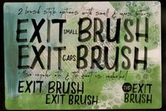 Exit Brush (Font) by JumboDesign · Creative Fabrica Graphic Design Art, Typography Design, Lettering, Frame Background, Lights Background, Professional Presentation Templates, Ttf Fonts, Light Font, Photo Texture