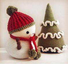 Amigurumi Pattern Frosty the Snowman and Christmas Tree by pepika