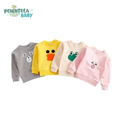Casual Cartoon Funny Children Tops Tees Girls Boys Kids Clothing Autumn Spring T-shirt Long Sleeve Cotton Sweatshirt 1-3 Years //Price: $19.58 //     #fashionkids