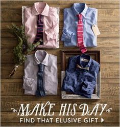 button-down laydown holiday