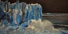 "Saatchi Art Artist Marco Ortolan; Painting, ""The Imposing Glacier"" #art"