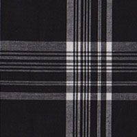 Plaid Cotton Stretch Poplin - Black/White (Gorgeous Fabrics)