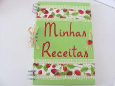 Caderno de receitas Morango