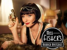 Miss Fisher's Murder Mysteries - With Essie Davis, Nathan Page, Hugo Johnstone-Burt, Ashleigh Cummings. Our lady sleuth sashays through the back lanes and jazz clubs of late 1920's Melbourne, fighting injustice with her pearl-handled pistol and her dagger sharp wit.