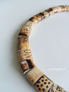 Paper Bead Jewelry, Paper Beads, Fabric Beads, Art Plastique, Quilling, Fancy, Bracelets, Necklaces, Paper Rings