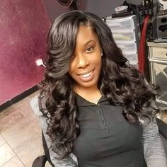 """SILK PRESS QUEEN on Instagram: """"Traditional Sew in😍"""" Silk Press, Black Hair, Profile, Queen, Traditional, Long Hair Styles, Sewing, Makeup, Beauty"""