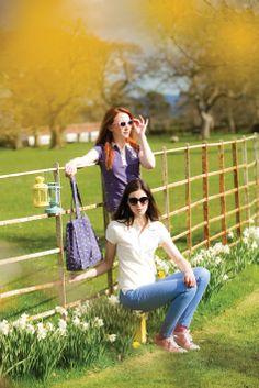 Horseware S/S14: January: Ashlinn horse pring polo / Summer canvas bag // Grace: Flamboro polo