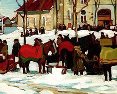 After Grand Mass at Berthier-en-Haut, by Kathleen Moir Morris ~ Montreal Gazette Post Impressionism, Impressionist, Beaver Hall, Art Inuit, Academic Art, Morris, Canadian History, Virtual Museum