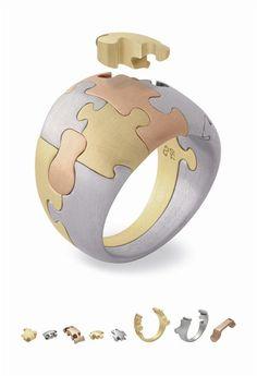 Ring 'Puzzle' | Antonio Bernardo - entrenous by LE NOEUD www.enbyln.com