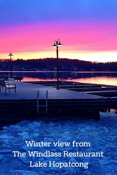 The Windlass Restaurant in Lake Hopatcong has an amazing view in addition to great food!