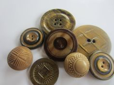 Vintage Buttons  Mid Century Modern lot of 8 by pillowtalkswf