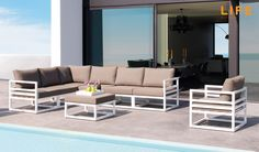 Lounge set Fabri white | Tuinmeubel Collectie | LIFE Outdoor Living