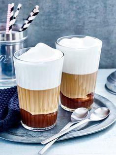 Nuss Nougat Macchiato - Rezept (genießen, Frühstück, Waffeln, Milch, Kaffein, Schwarzer Kaffee, Cappuccino, Latte, Lustig, Bilder, Guten Morgen, Trinken, Genuss, Liebe, Bohnen, Latte Art, Zubereitung, Kochhaus)