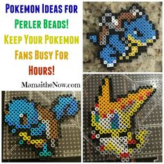 Pokemon and Minecraft inspiration for Perler Beads! Over 500 patterns and everything you need to get started! Fun for hours!