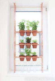 DIY: copper herb garden