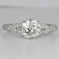 Antique Engagement Ring With Wedding Band 6 Antique Style Engagement Rings, Antique Wedding Rings, Shop Engagement Rings, Antique Rings, Vintage Rings, Antique Art, Wedding Engagement, Pretty Rings, Beautiful Rings