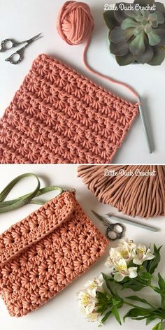 Delicate Star Stitch Ideas - Crochetpedia Delicate Star Stitch Ideas - Crochetpedia Always aspired to figure out how to knit, however undecided how to start? Crochet Bag Tutorials, Crochet Stitches For Beginners, Crochet Crafts, Easy Crochet, Crochet Projects, Knit Crochet, Free Crochet, Double Crochet, Crochet Clutch Pattern