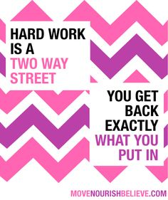 Two way street. much more than a fitness quote. This quote encompasses your entire life! You get back exactly what you put in. Study Motivation, Motivation Inspiration, Fitness Inspiration, Fitness Motivation, Marathon Motivation, Quotes To Live By, Me Quotes, Motivational Quotes, Inspirational Quotes