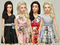 The Sims Resource: Designer Dresses Collection P04 by lillka • Sims 4 Downloads