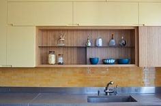 Yellow bamboo custom built kitchen by Prowood Inc. + Cabinet Maker NYC in Prospect Park, Brooklyn Yellow Bamboo, Prospect Park, Custom Kitchen Cabinets, Cabinet Makers, Made In America, Your Space, Brooklyn, Kitchen Design, Furniture Design